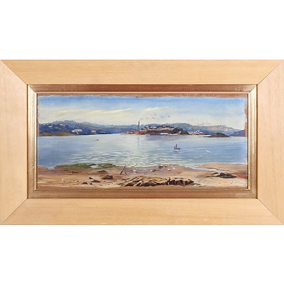 Artist Unknown, Sydney Harbour, Oil on Board, Early 20th Century