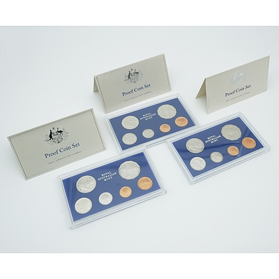 1980, 1981 and 1983 RAM Proof Coin Sets
