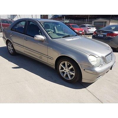 4/2004 Mercedes-Benz C200 Kompressor Elegance W203 UPGRADE 4d Sedan Silver 1.8L