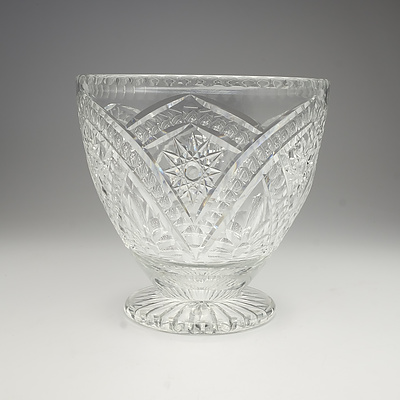 Large Cut Crystal Vase with Inscription G.M.M.C 25th Anniversary