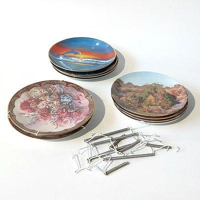 Ten Limited Edition Plates Including Bradex and Bendigo Pottery