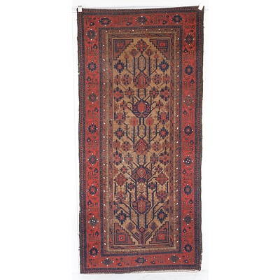 Antique Persian Tribal Hand Knotted Wool Pile Rug
