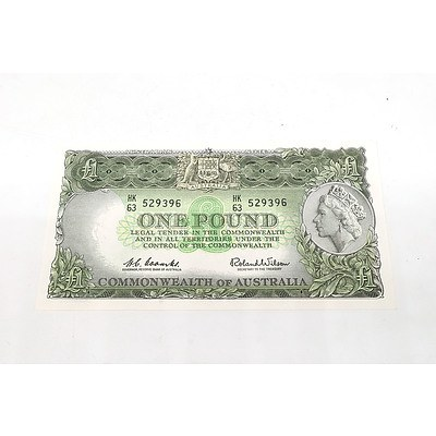 Australian Coombs/ Wilson One Pound Note, HK 63 529396