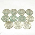 Eleven Australian 1966 Silver 50 Cent Coins