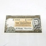 Commonwealth of Australia Coombs/ Wilson Ten Shillings Paper Note, AH 64 315628