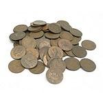 Seventy Nine Australian Pennies, Various Dates from 1911- 1964