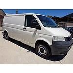 6/2009 Volkswagen Transporter (lwb) T5 MY08 Van White 2.5L