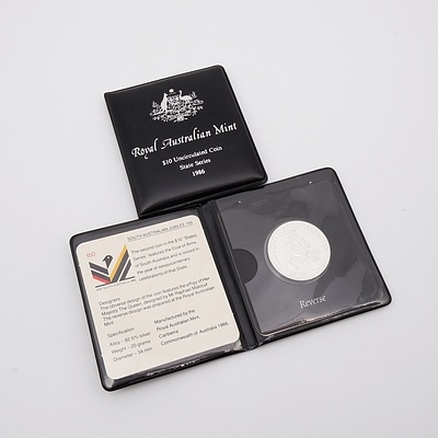 Two 1986 Royal Australian Mint State Series $10 Uncirculated Coins