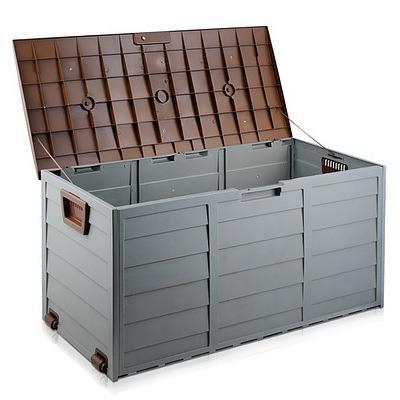 290L Outdoor Weatherproof Storage Box - Brown