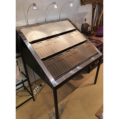 Angled Display Table With Mirror Finish
