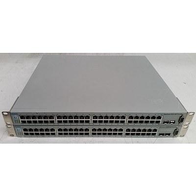 Nortel (BayStack 5510-48T) 48-Port Managed Gigabit Ethernet Switch - Lot of Two