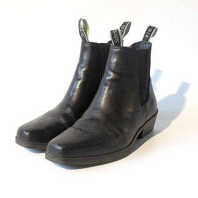 Pair of Female Black Slatters Boots Worn Size 8