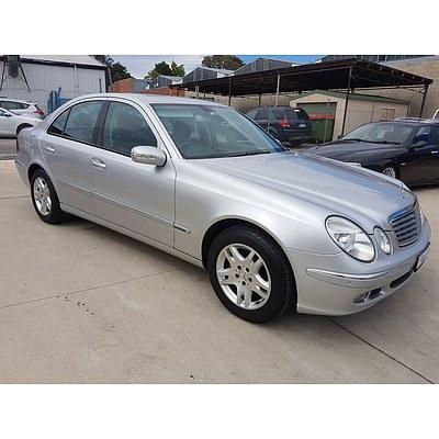 7/2005 Mercedes-Benz E200k Elegance 211 4d Sedan Silver 1.8L