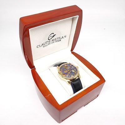 Claude Meylan Ligne Lac 6144 PB Wristwatch with Original Box