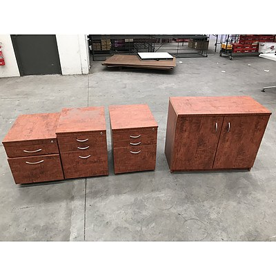 Assorted Laminate Office Storage Furniture - Lot of 4