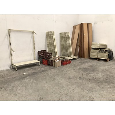Large Assortment of Shop Shelving