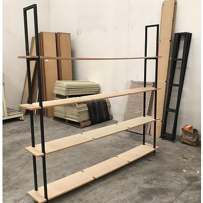 Custom Built Shop Shelving