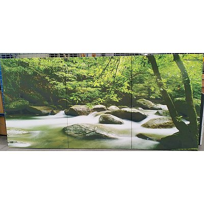 Streams of Beauty Stretched Canvas Prints - Lot of Three