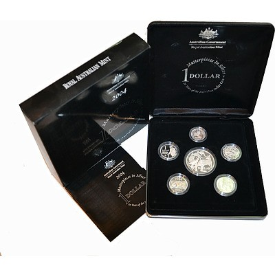 Australia 2004 Masterpieces In Silver Proof Set