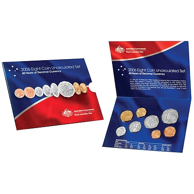 Australia 2006 8 Coin Uncirculated Set
