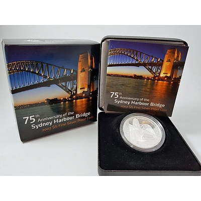 Australia Sydney Harbour Bridge $5 Fine Silver 2007