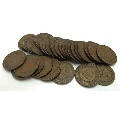 Australia: Collection of George V (1911-1936) Half-Pennies (X33)