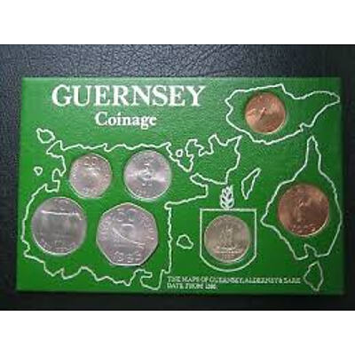 Guernsey: Uncirculated Set 1979 & 1983