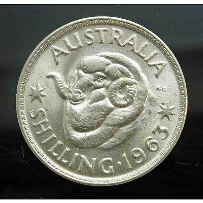 Australia: Silver Shilling 1963