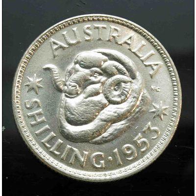 Australia: Silver Shilling 1953 Melb