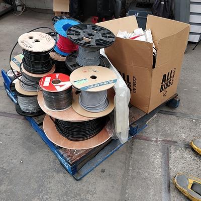 Pallet Lot Of Cable, 1RU Mounting Kits, PowerTran Torodial Transformers