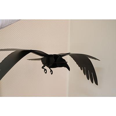 Contemporary Bird ornament VII