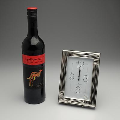 Pierre Cardin clock & red wine I