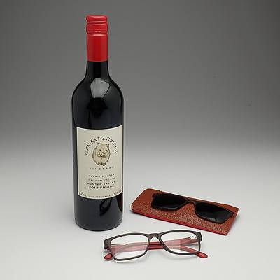 Computer glasses & red wine III