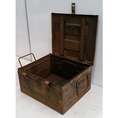 Vintage Military Steel Munition Box
