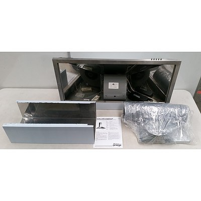 Omega K224/1 Ducted Rangehood with Stainless Steel Finish