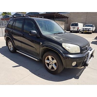 9/2005 Toyota Rav4 Cruiser (4x4) ACA23R 4d Wagon Black 2.4L