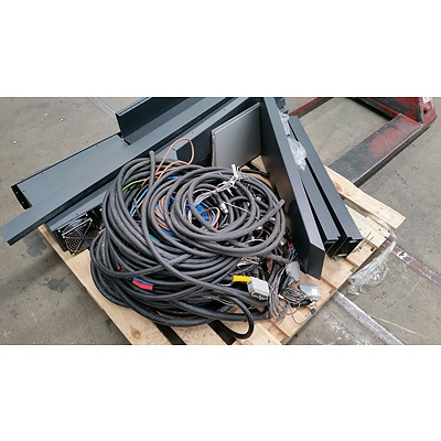 Bulk Lot of Assorted Data & Electrical Cable Including Mounting And Rack Mountable Equipment