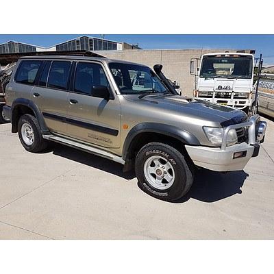 3/2002 Nissan Patrol ST (4x4) GU III 4d Wagon Gold 3.0L