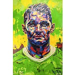 Portrait of Canberra Raiders captain Jarrod Croker by Christopher Paul Tóth