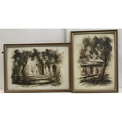 Two Framed Signed Oil On Board Paintings