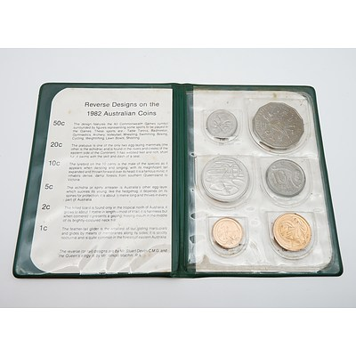 Royal Australian Mint 1982 Six Coin Set - XII Commonwealth Games