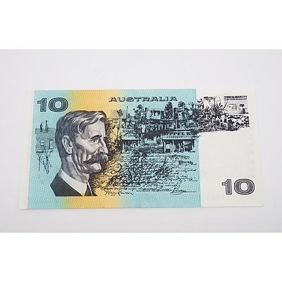 1985 Australian Ten Dollar Banknote - Johnston/Fraser