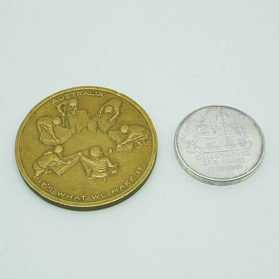 1901-2001 Australian Centenary Medallion and 1788-1988 Australian Bicentenary Medallion