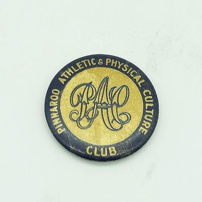 Pinnaroo Athletic & Physical Culture Club Badge - Circa 1910's