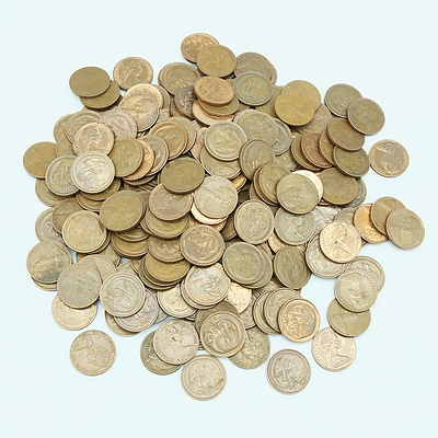 Large Quantity of 1970 - 1979 Australian One Cent Coins