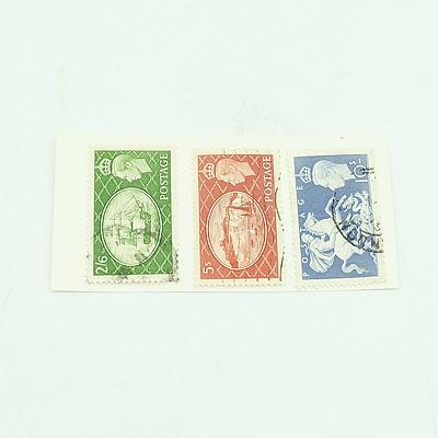 1951 KGVI 2/6, 5s & 10s Great Britain Stamp Set