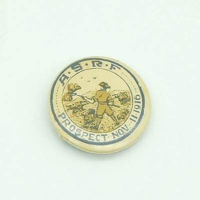 A.S.R.F Prospect SA  - Nov 11 1916 WW1 Badge