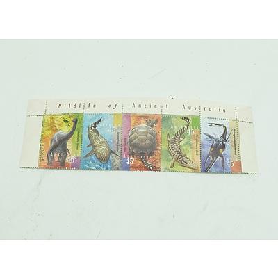 Wildlife of Ancient Australia 45c Stamps