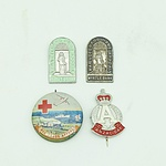 Lot of 4 Badges - ANZAC, Red Cross & War Veterans
