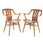 Set #1 of Four Dutch 1960s Plywood Chairs